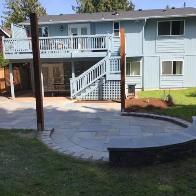 patio pavers installation after